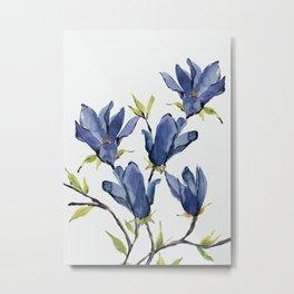 Blue Flowers 3 Metal Print