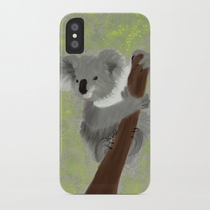 Koala Bear Hanging In There iPhone Case