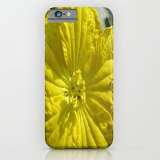beauty in the mundane - ants and the luffa flowers iPhone 6s Slim Case