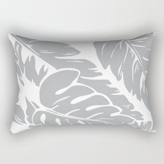 PALM LEAF GRAY Rectangular Pillow