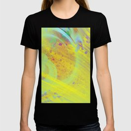 Soothing - Abstract yellow painting T-shirt