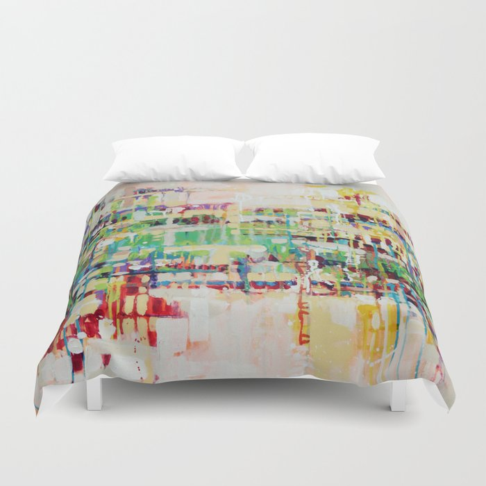 ABSTRACTION island Duvet Cover