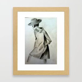 1960's Mod Fashion 3 Framed Art Print