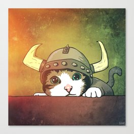 Viking Kitty Canvas Print