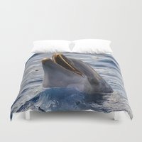 dolphin Duvet Covers featuring dolphin by LaiaDivolsPhotography
