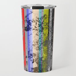 Smearing The Lines Of Colour Travel Mug