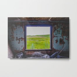 Roadside Homestead, North Dakota Metal Print