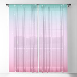 Weeaboo Sparkle Sheer Curtain