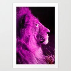 Pretty Kitty in Purple Art Print