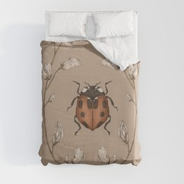 The Ladybug and Sweet Pea Duvet Cover