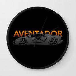 Lamborghini Aventador Wall Clock