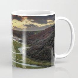 Sunset at Three Cliffs Bay Coffee Mug