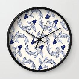 Japanese Koi Fish Pattern Wall Clock