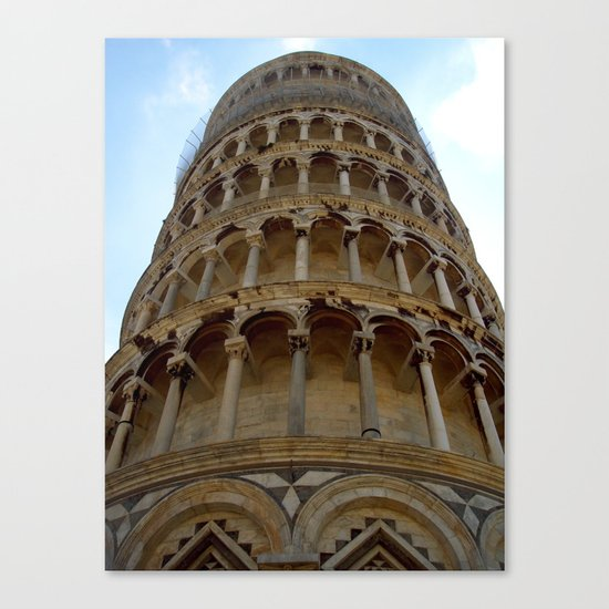 Leaning Tower Canvas Print
