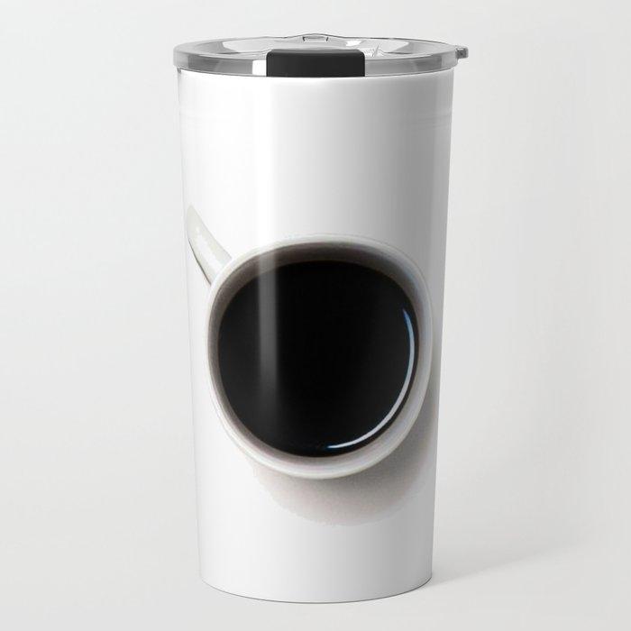 Black Coffee (Black and White) Travel Mug