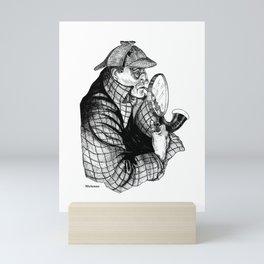 Sherlock Holmes / A Three Pipe Problem by Peter Melonas Mini Art Print