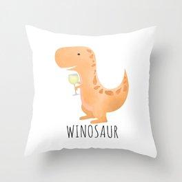 Winosaur | White Wine Throw Pillow