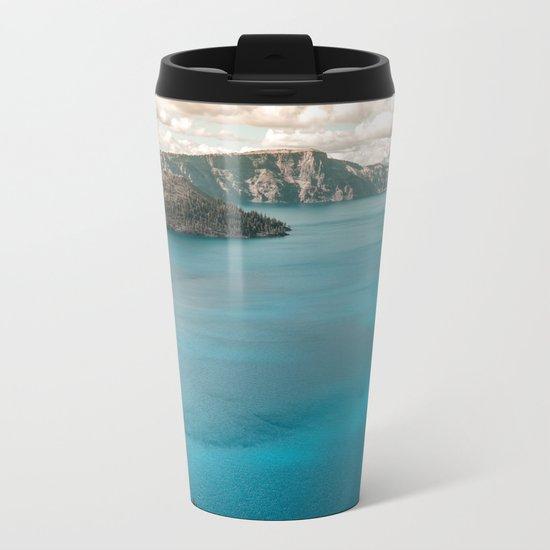 Summer At The Lake Metal Travel Mug