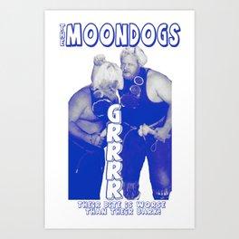 Legendary Memphis Tag Team - The Moondogs Art Print