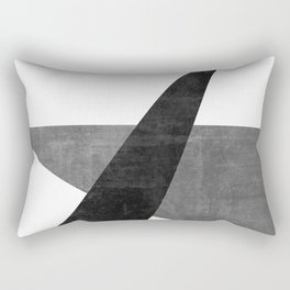 Ambitious No. 2 | Abstract in Blacks + Grays Rectangular Pillow