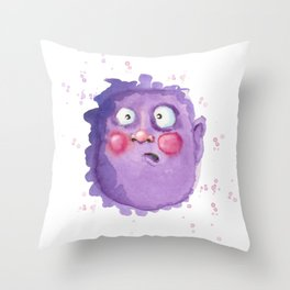 Purple face Throw Pillow