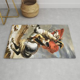 Napoleon Crossing The Alps - Digital Remastered Edition Rug