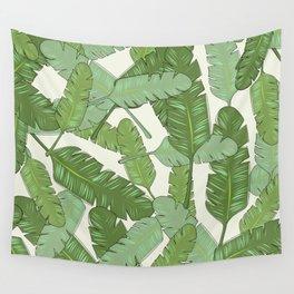 Banana Leaf Print Wall Tapestry
