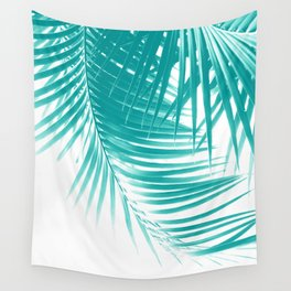 Palm Leaves Soft Turquoise Summer Vibes #1 #tropical #decor #art #society6 Wall Tapestry