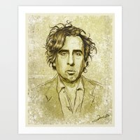 tim burton Art Prints featuring Tim Burton by Renato Cunha