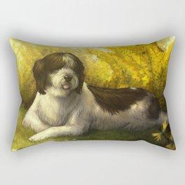 Jake: Sheepdog Portrait Rectangular Pillow