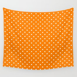 Dots (White/Orange) Wall Tapestry