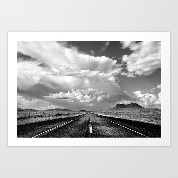 West Texas Road Kunstdrucke