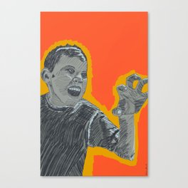 The right amount of rage Canvas Print