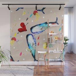 Whale Wall Mural