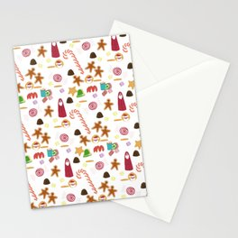 Christmas Sweeties Candies, Peppermints, Candy Canes and Chocolates Stationery Cards