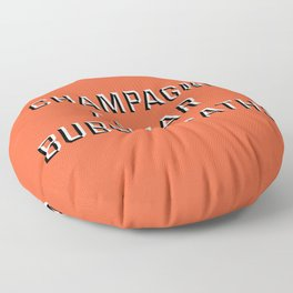 CHAMPAGNE CAVIAR BUBBLE BATHS Floor Pillow