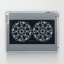Grace Mandala x 2 - Gray Black Laptop & iPad Skin