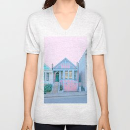 San Francisco Painted Lady House Unisex V-Neck
