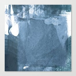 Blue and White Abstract Painting 2 Canvas Print