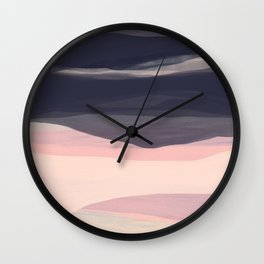 Hills and dales abstract landscape Wall Clock