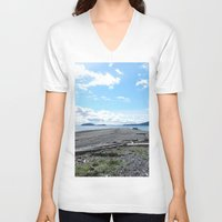 kirby V-neck T-shirts featuring Camp Kirby by Krista Dawn