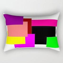 Colour Squares Rectangular Pillow