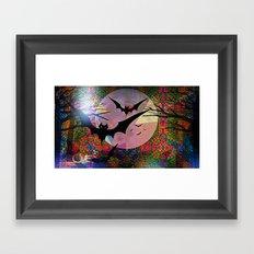 BatLove1 Framed Art Print