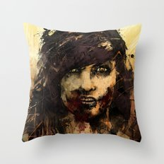 Female Zombie Throw Pillow
