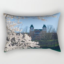 The Kennedy Art Museum in Spring Rectangular Pillow
