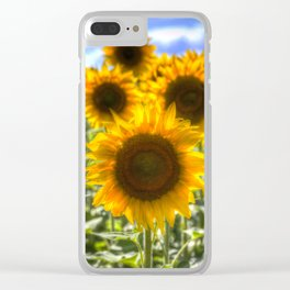 Sunflowers Summer Days Clear iPhone Case