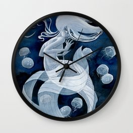 Jellyfish Mermaid Wall Clock
