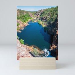 Panoramic view from above at Edith Falls, Australia. Mini Art Print
