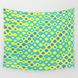 Brain Coral Blue Banded Small Polyps - Coral Reef Series 027 Wall Tapestry
