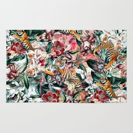 Tigers and Flowers II Rug